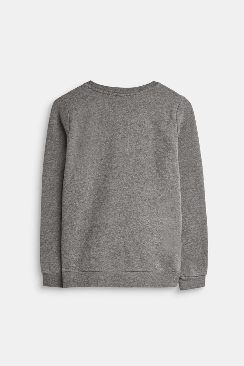 Sweater med pailletter, 100% bomuld