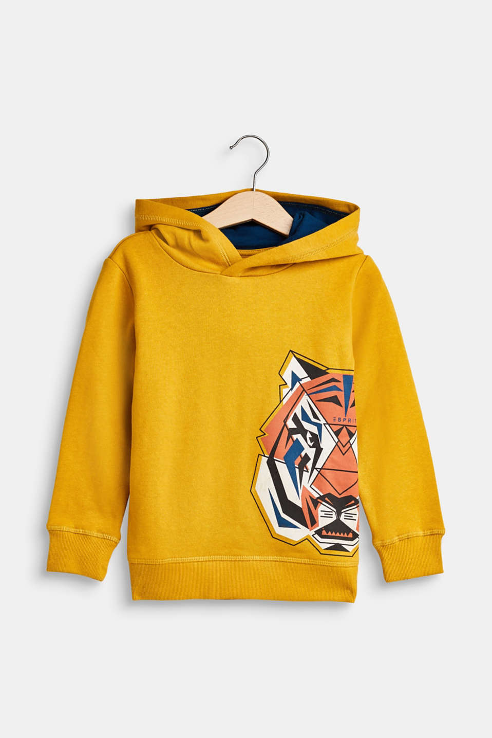 Esprit - Hoodie with a tiger print, 100% cotton