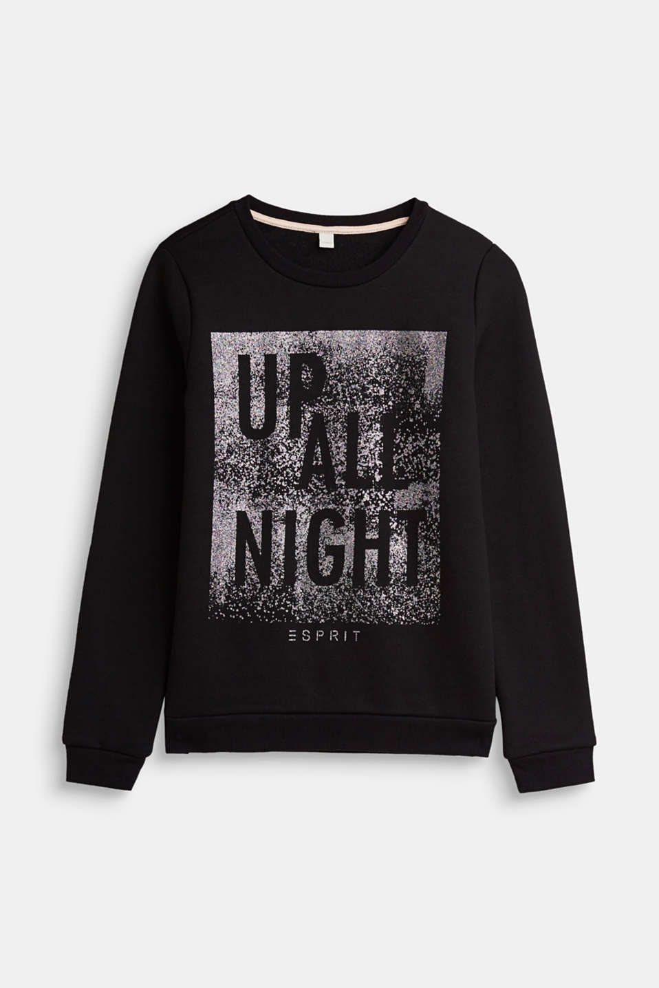 Esprit - Sweatshirt with a glitter statement