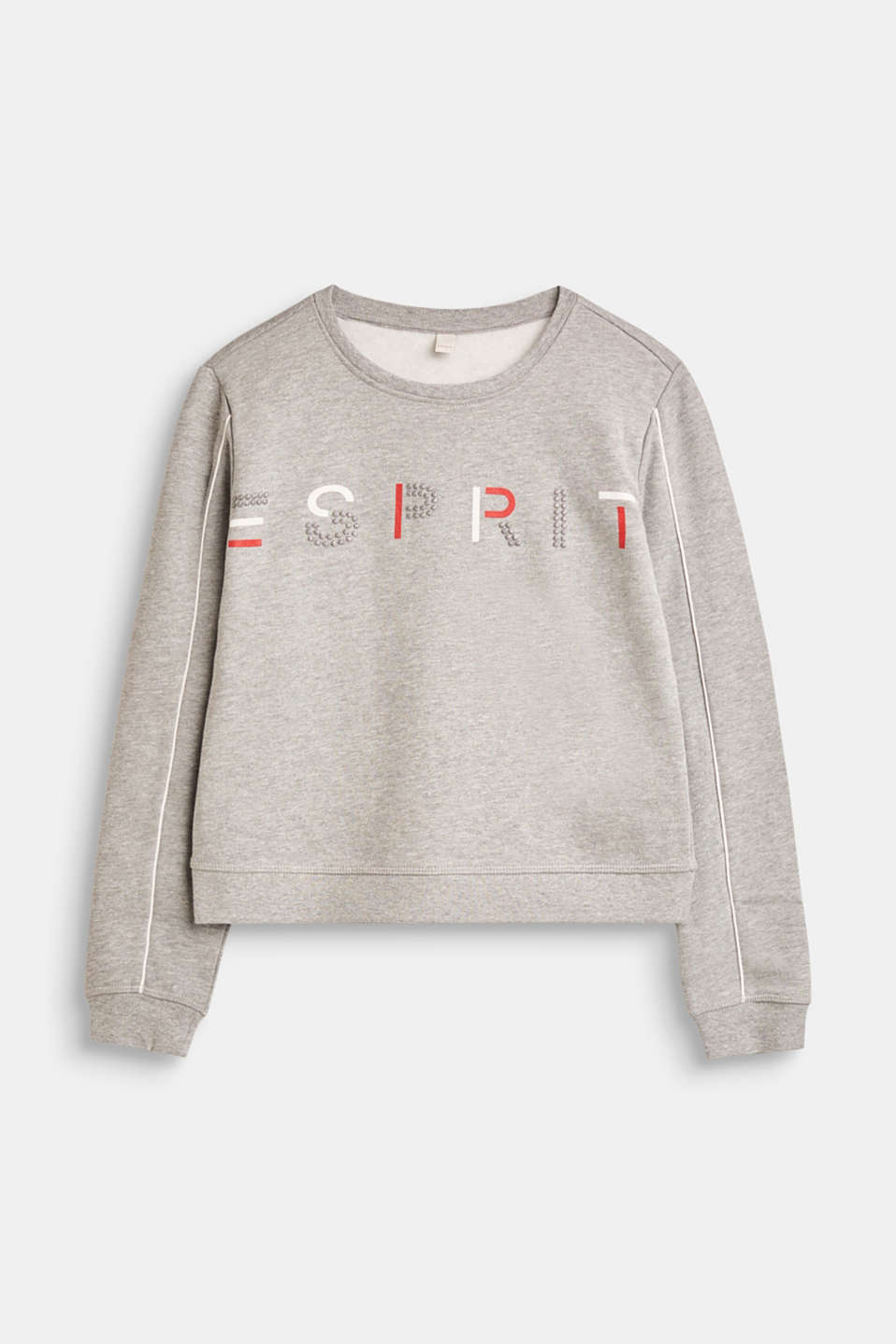 Esprit - Shiny print sweatshirt, 100% cotton