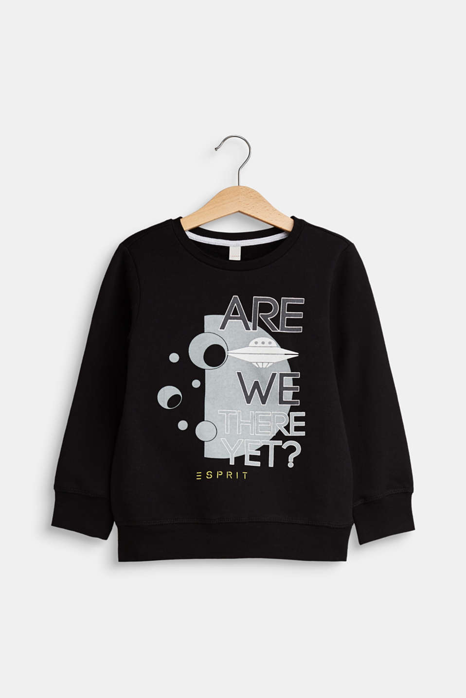 Esprit - Sweatshirt with a front print, 100% cotton