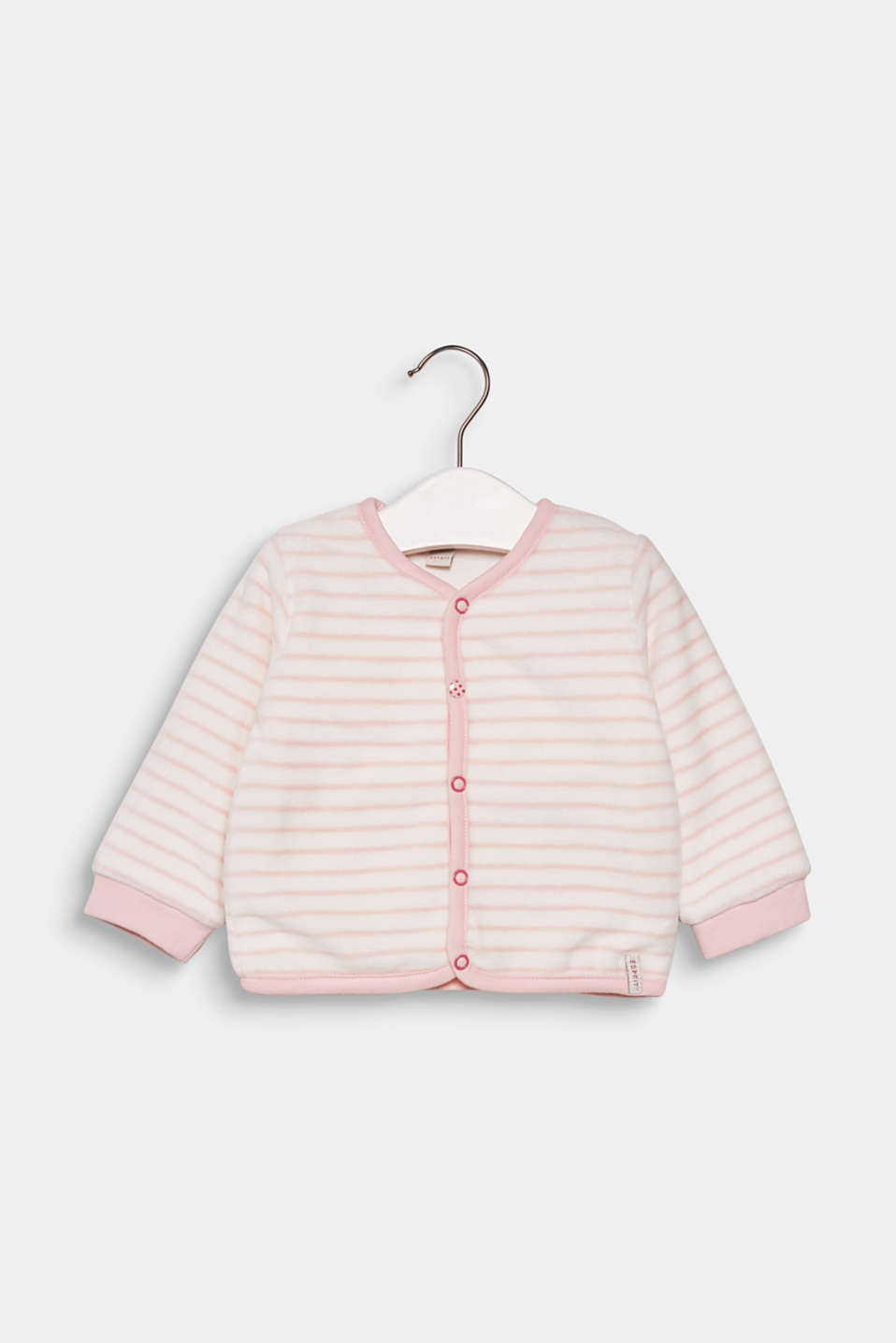 Esprit - Striped velour cardigan