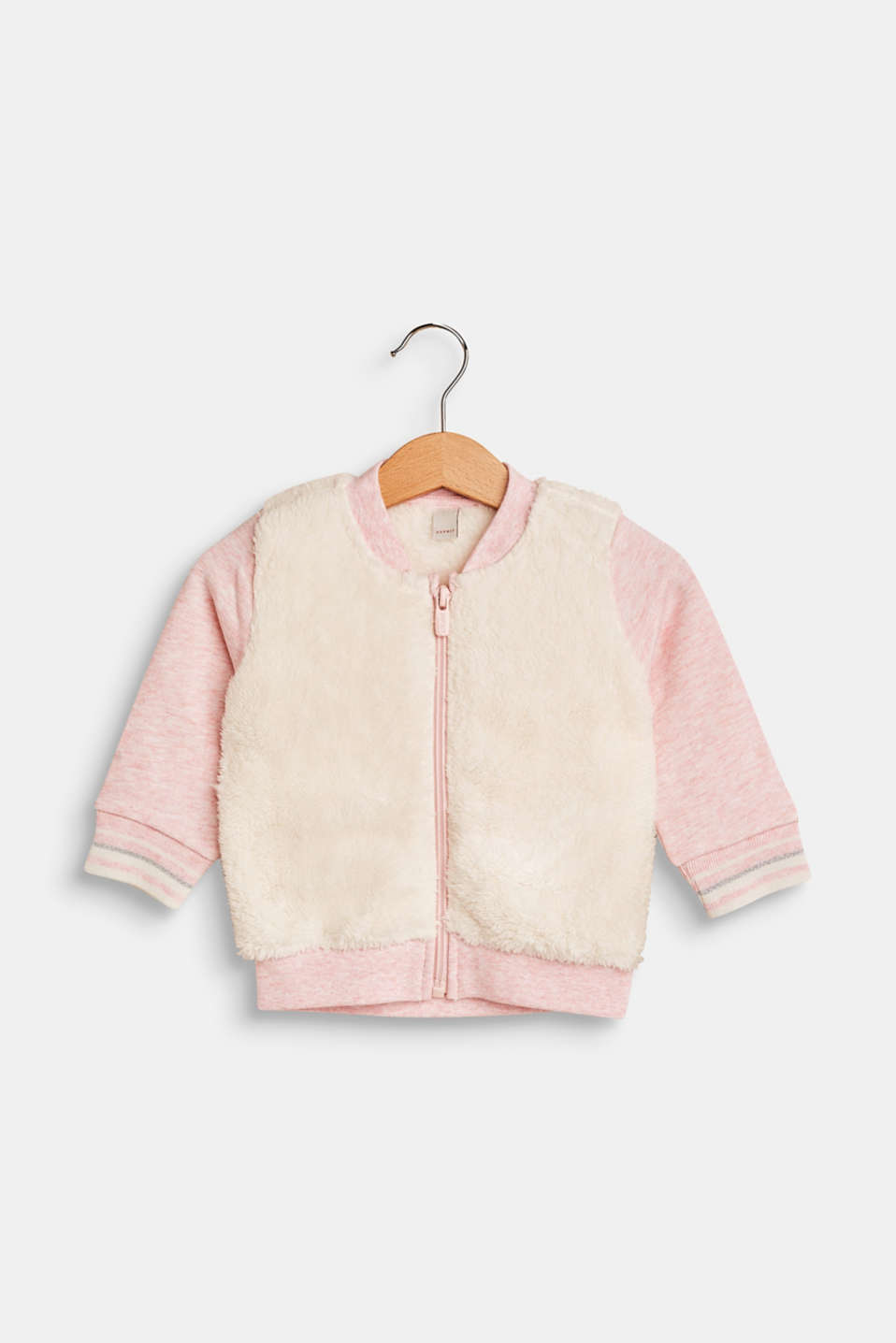 Esprit - Plush detail sweatshirt cardigan