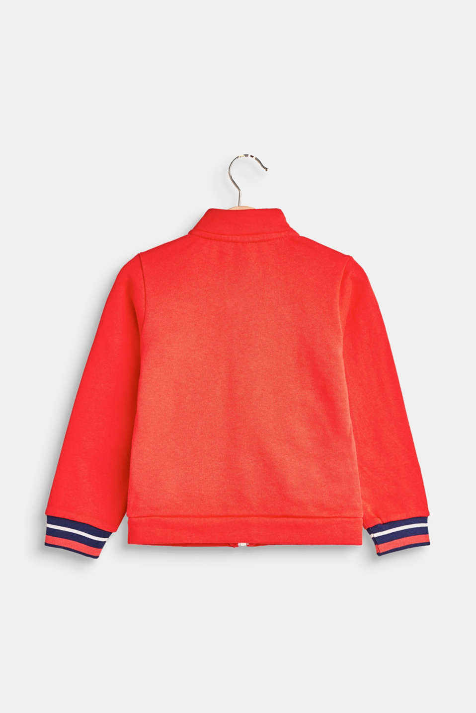 Colour block sweatshirt jacket in 100% cotton