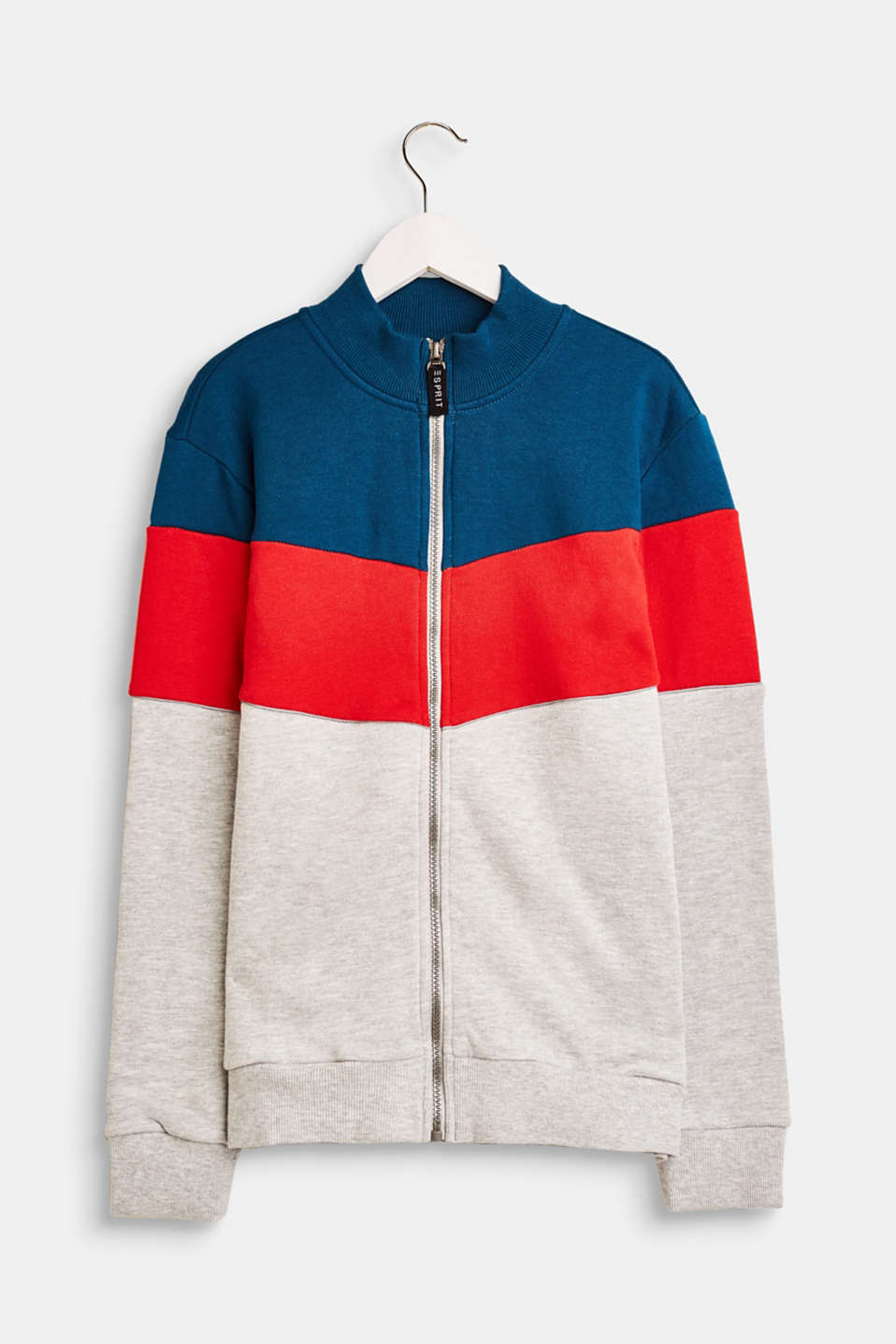 Esprit - Sweatcardigan med colour-block