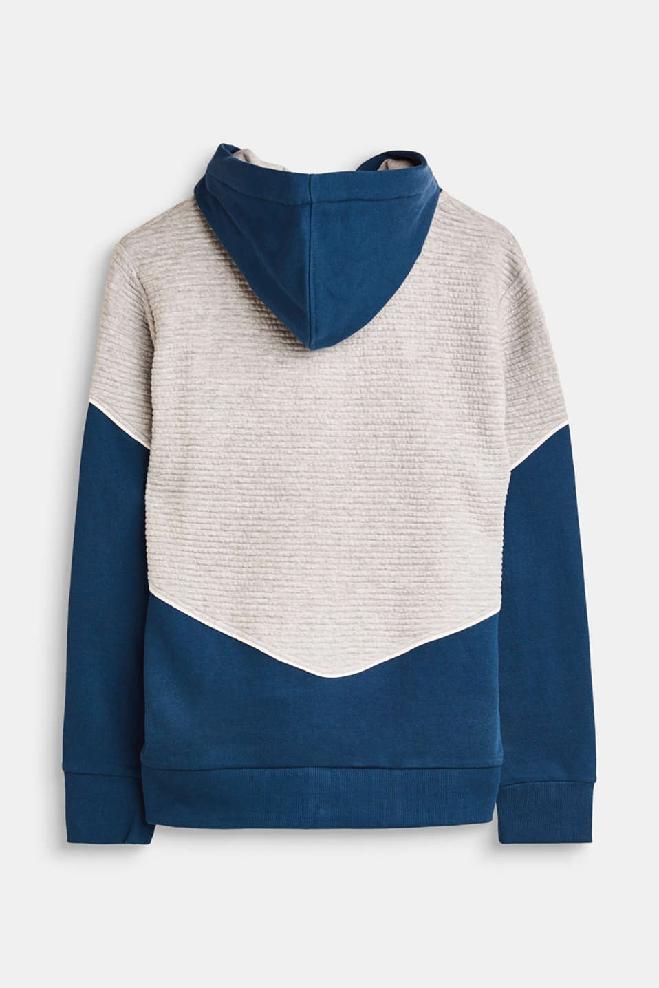 Sweatshirt cardigan with a colour block effect