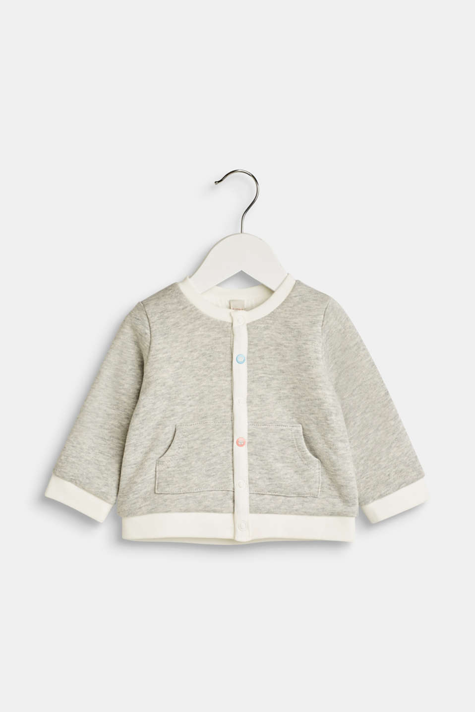 Esprit - Sweatshirt cardigan with organic cotton