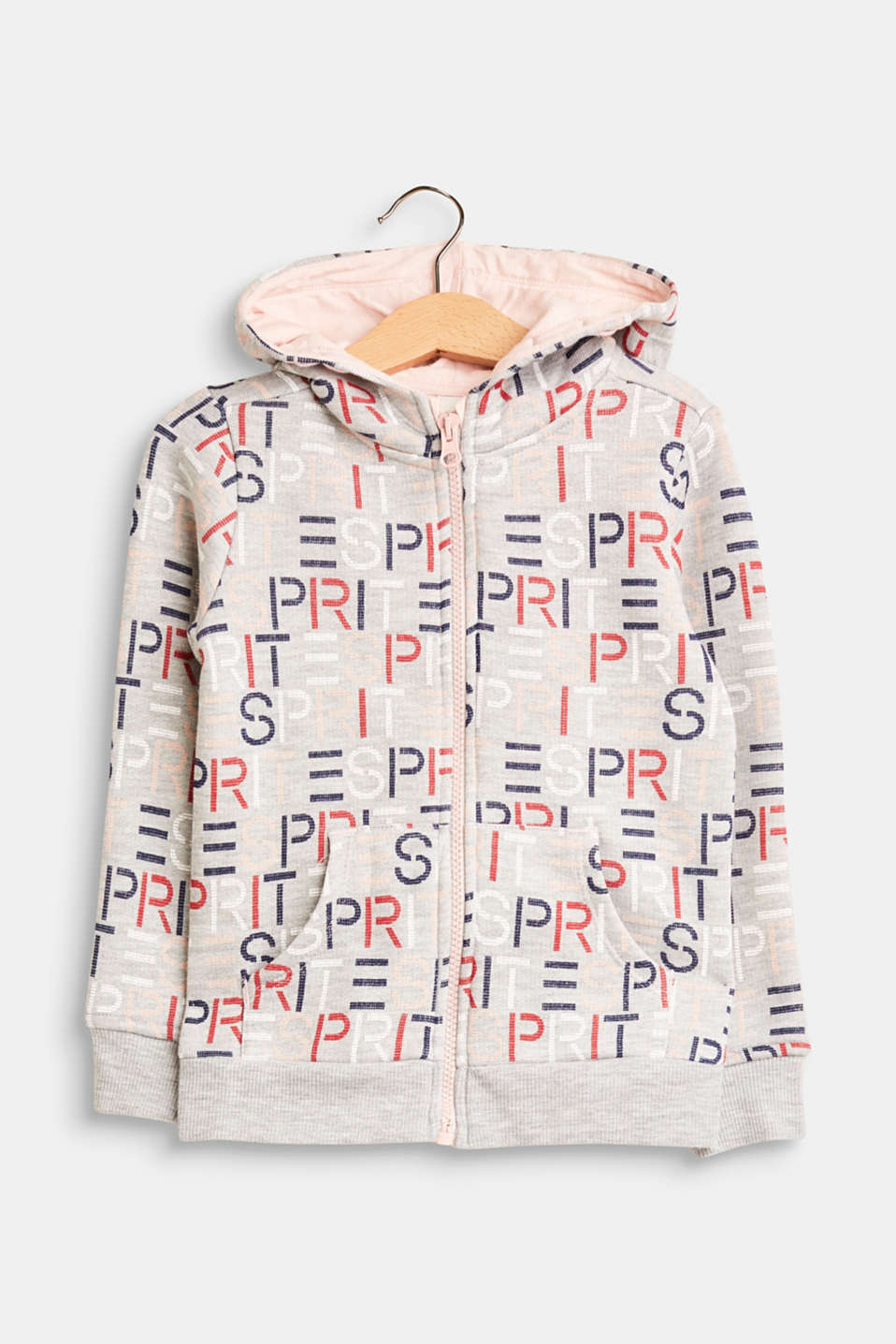 Logo-mania! This zip-up sweatshirt hoodie is simply cool and mega comfy whilst the all-over print transforms it into a trendy statement piece.