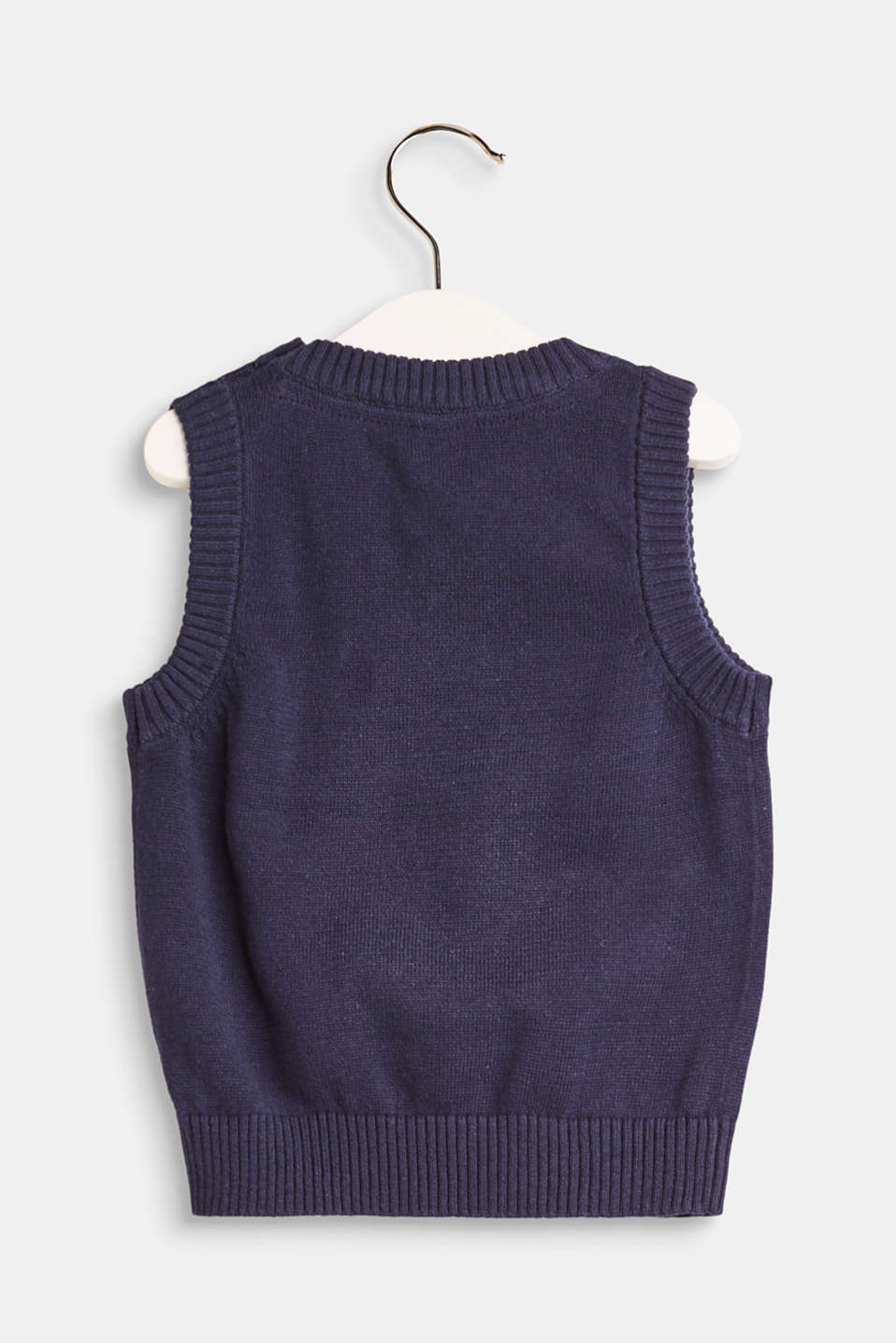 Knitted vest in 100% cotton