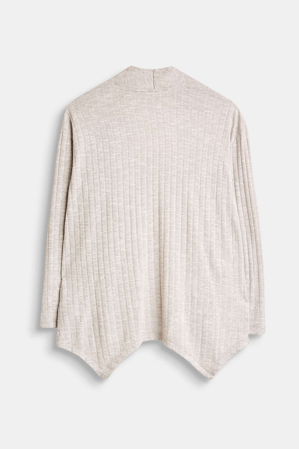 Jersey cardigan with a ribbed texture