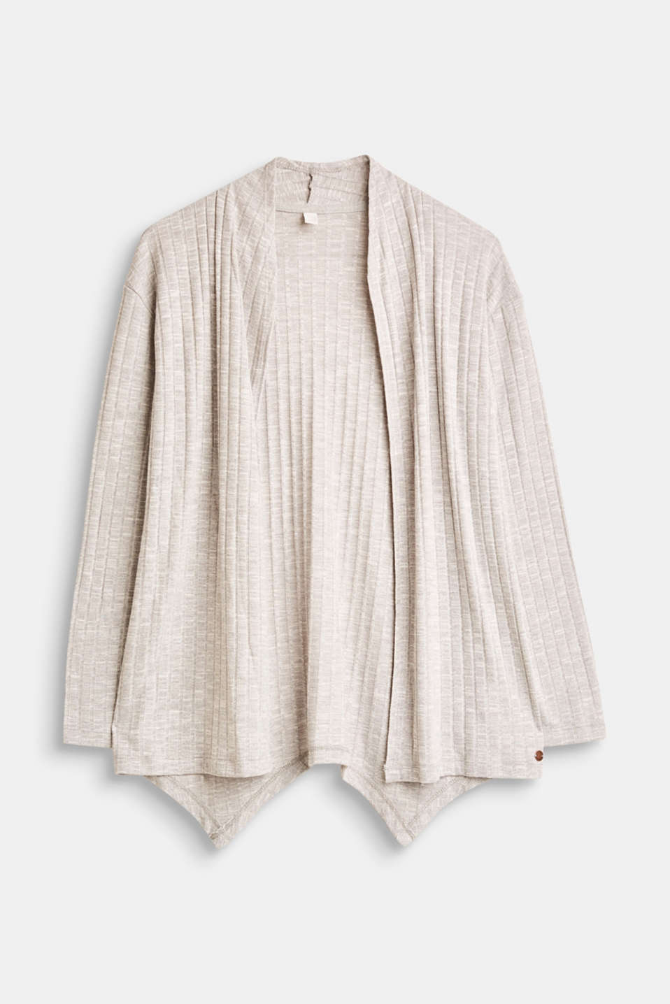 Esprit - Jersey cardigan with a ribbed texture