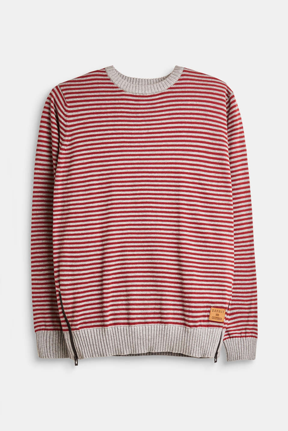 Esprit - Striped jumper in 100% cotton