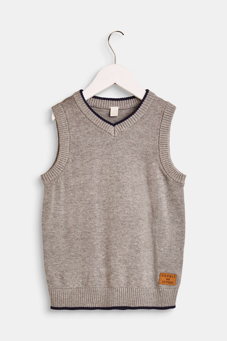 Esprit - Knitted sweater vest in 100% cotton