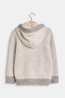 Esprit - Hooded rib knit cardigan 256982bbb