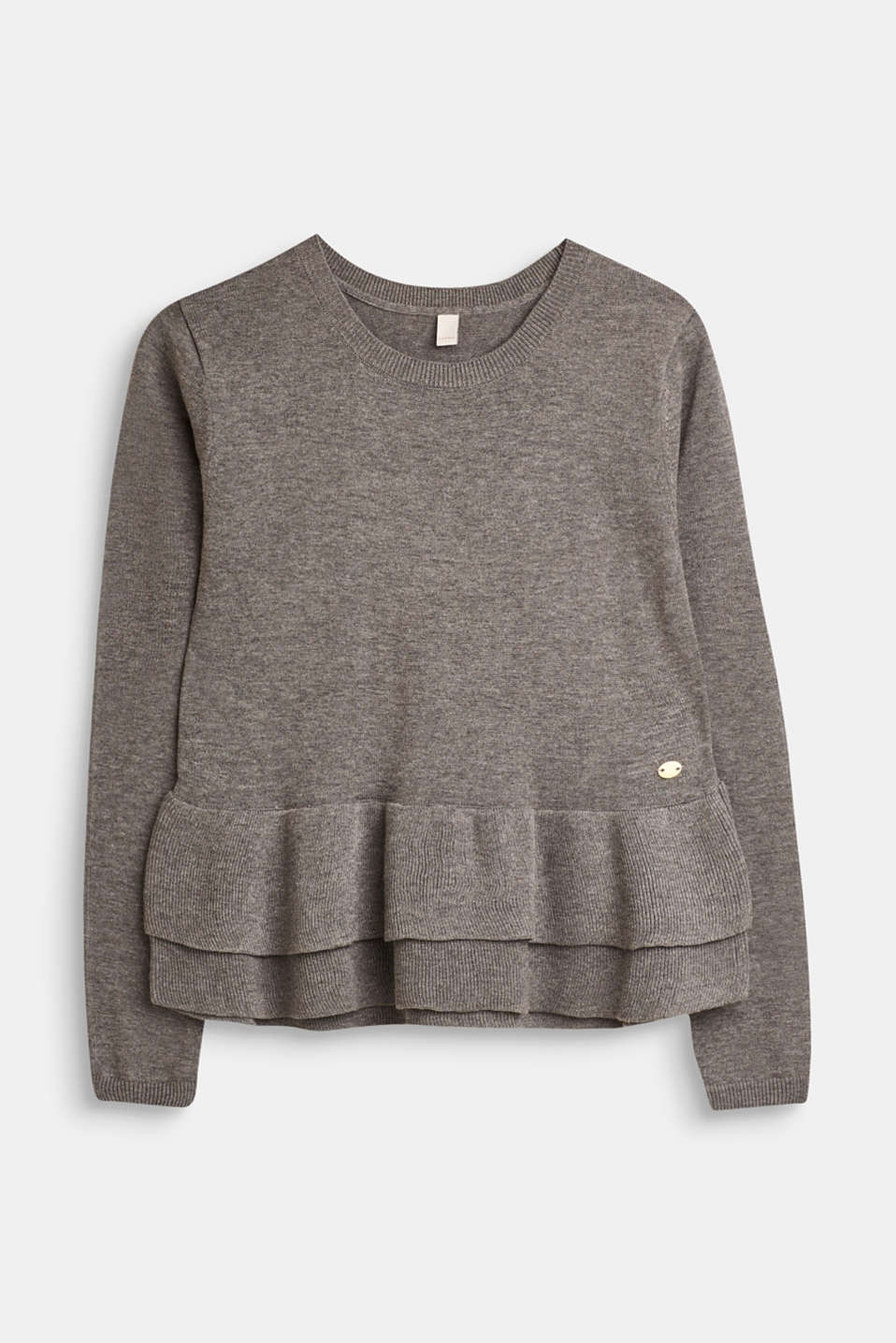 Esprit - Melange jumper with flounces