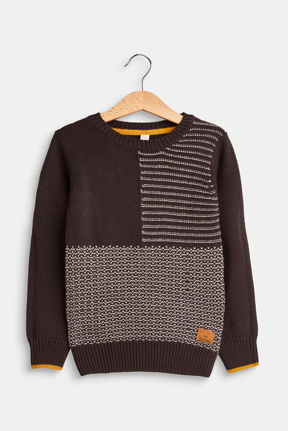 Esprit - Jumper with a textured pattern, 100% cotton