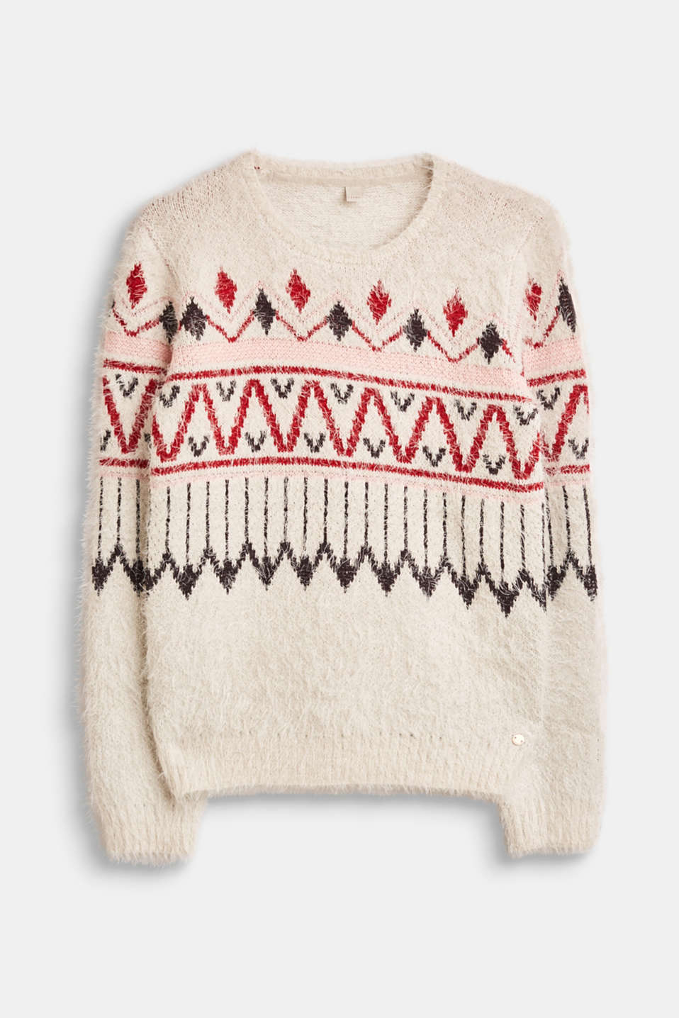 Esprit - Intarsia jumper made of soft novelty yarn