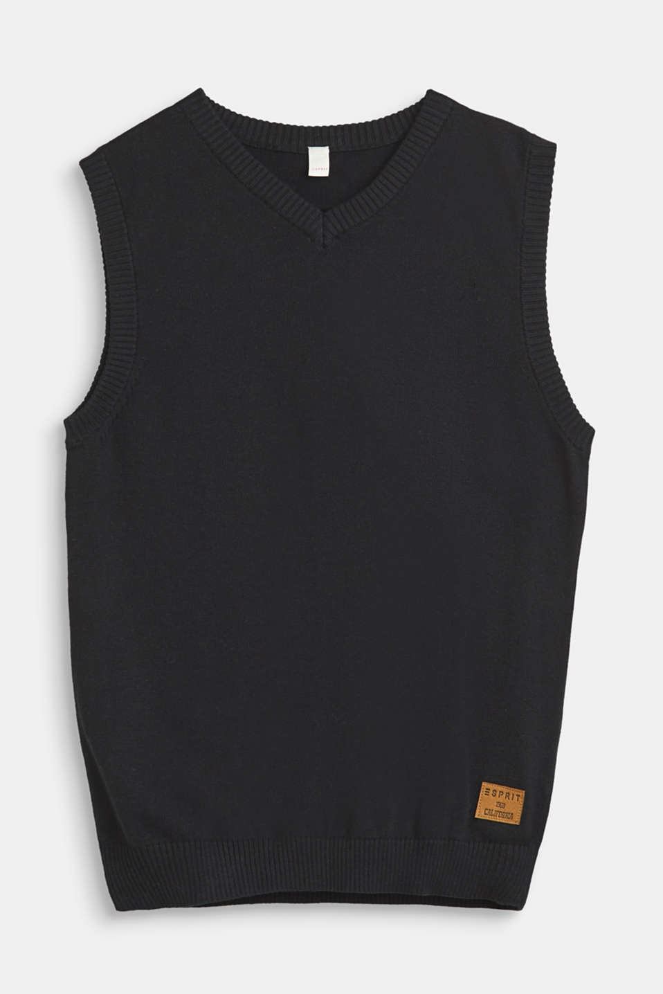 Esprit - Knitted vest in 100% cotton