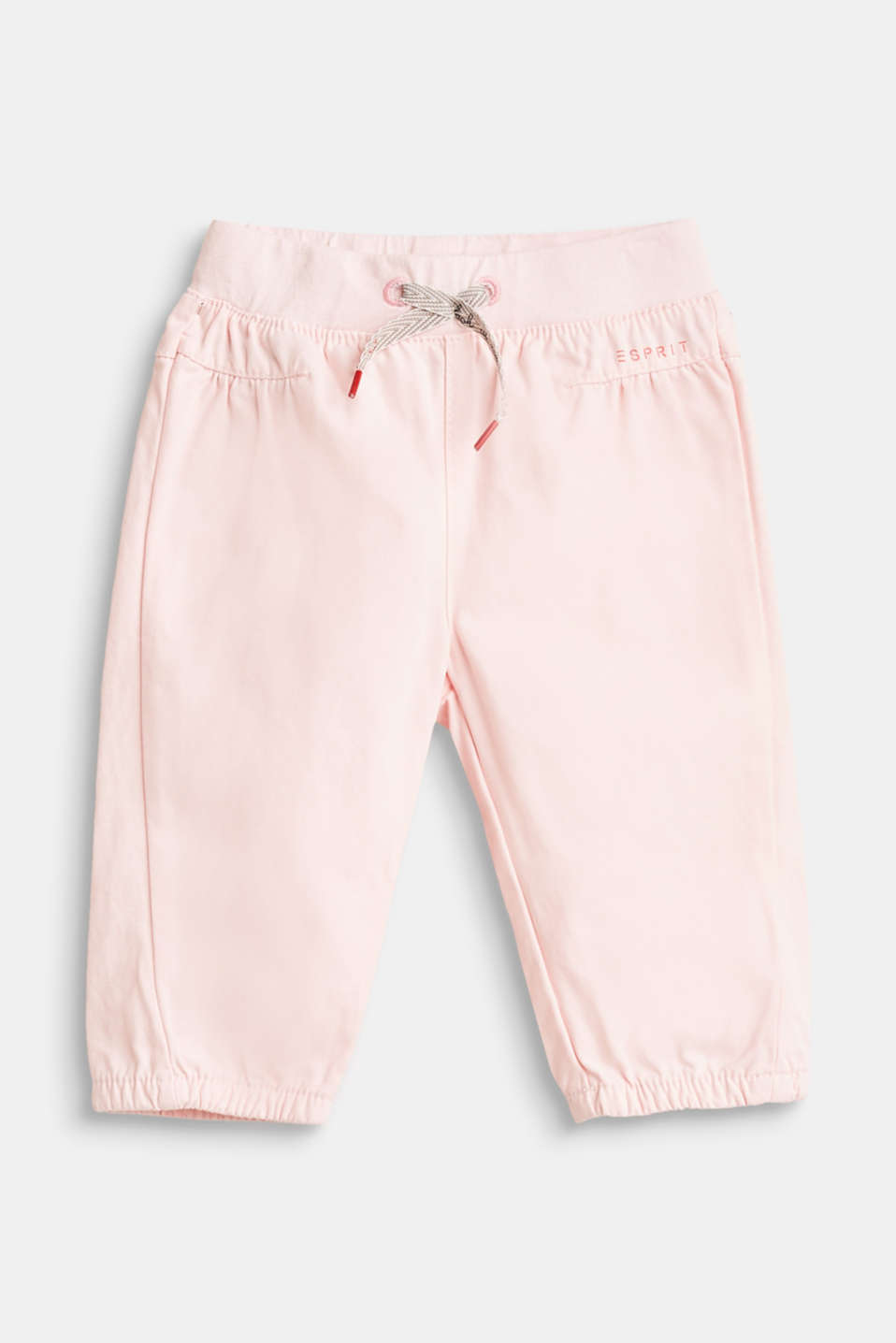 Esprit - Cotton trousers with an elasticated waistband