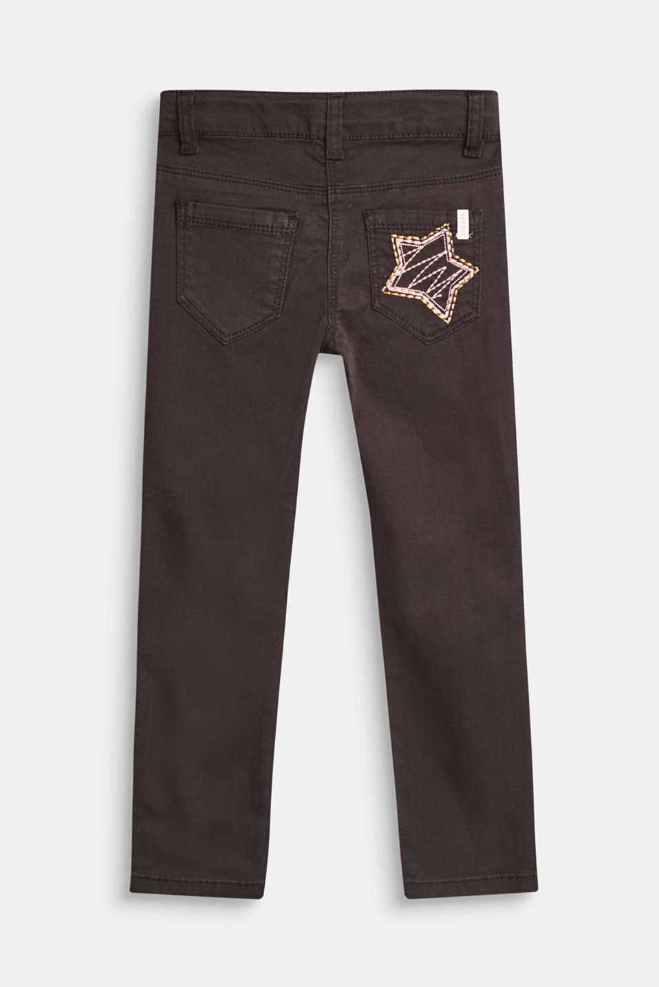 Stretch jeans with star appliqué