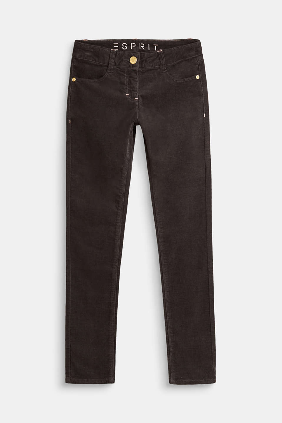 Esprit - Needlecord trousers in stretch cotton