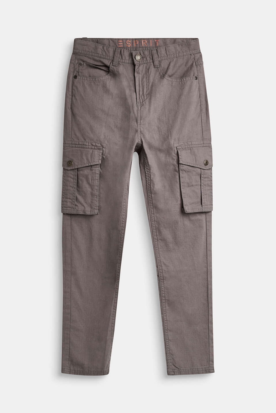 Esprit - Cargo style trousers in 100% cotton