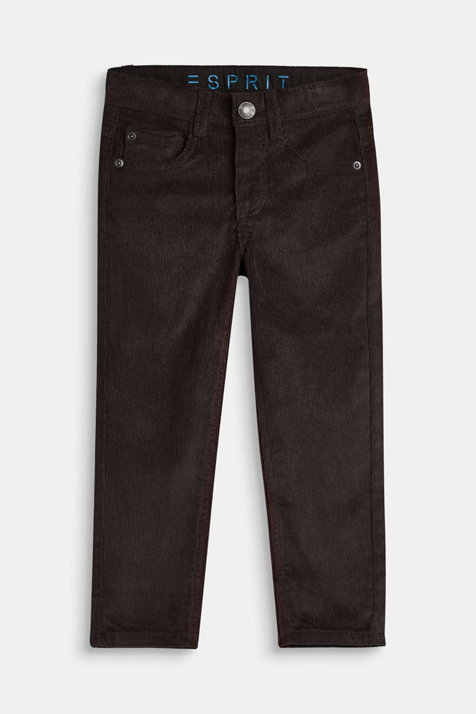 Esprit - Needlecord trousers, 100% cotton