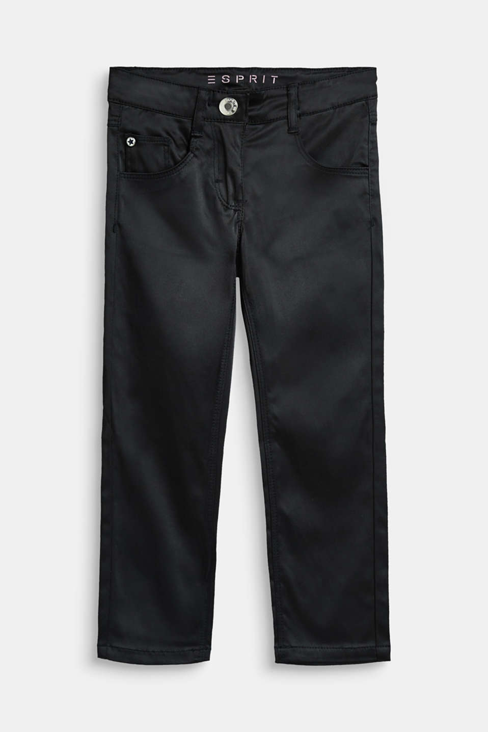 Esprit - Narrowly cut satin trousers