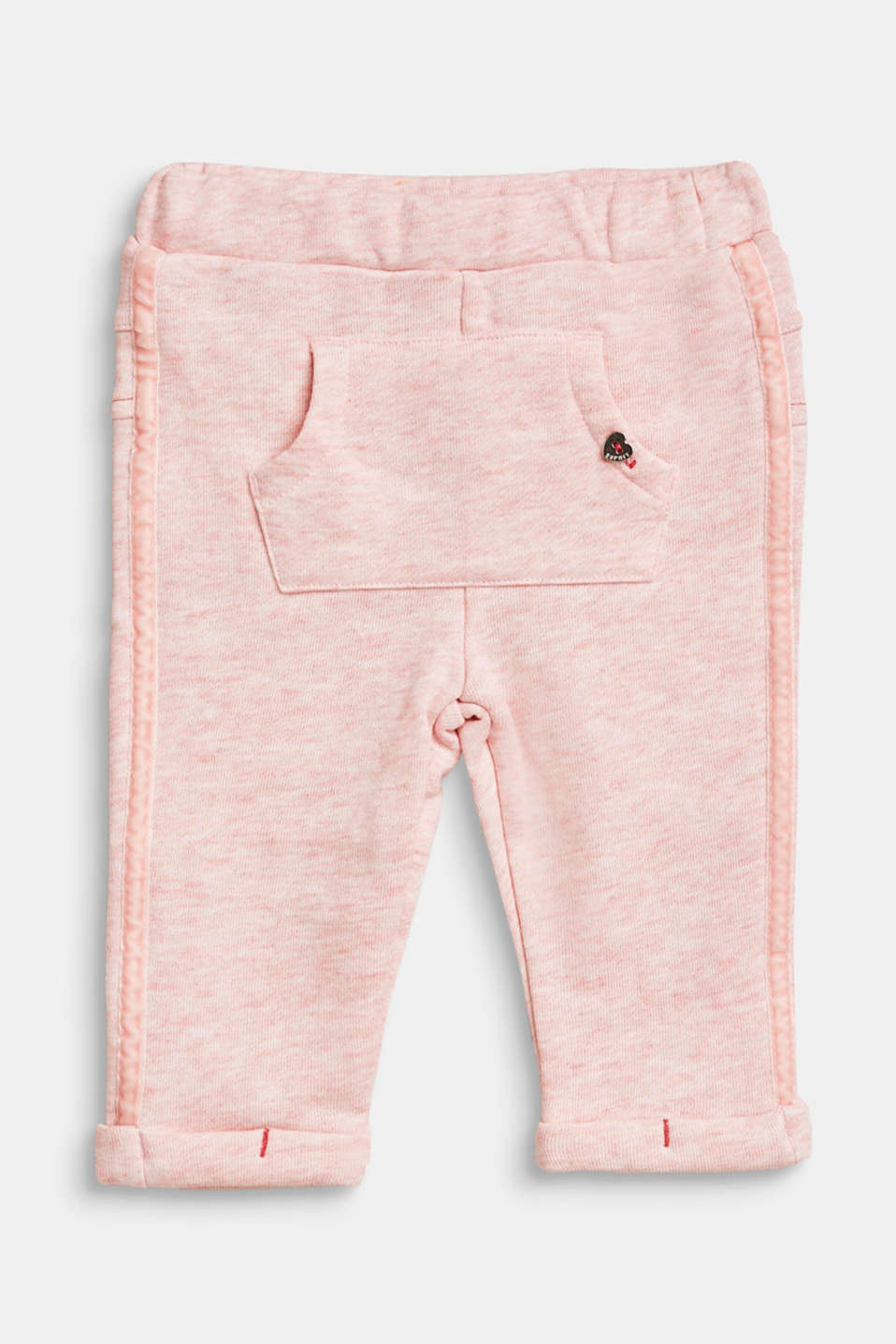 Esprit - Tracksuit bottoms with kangaroo pockets and side stripes