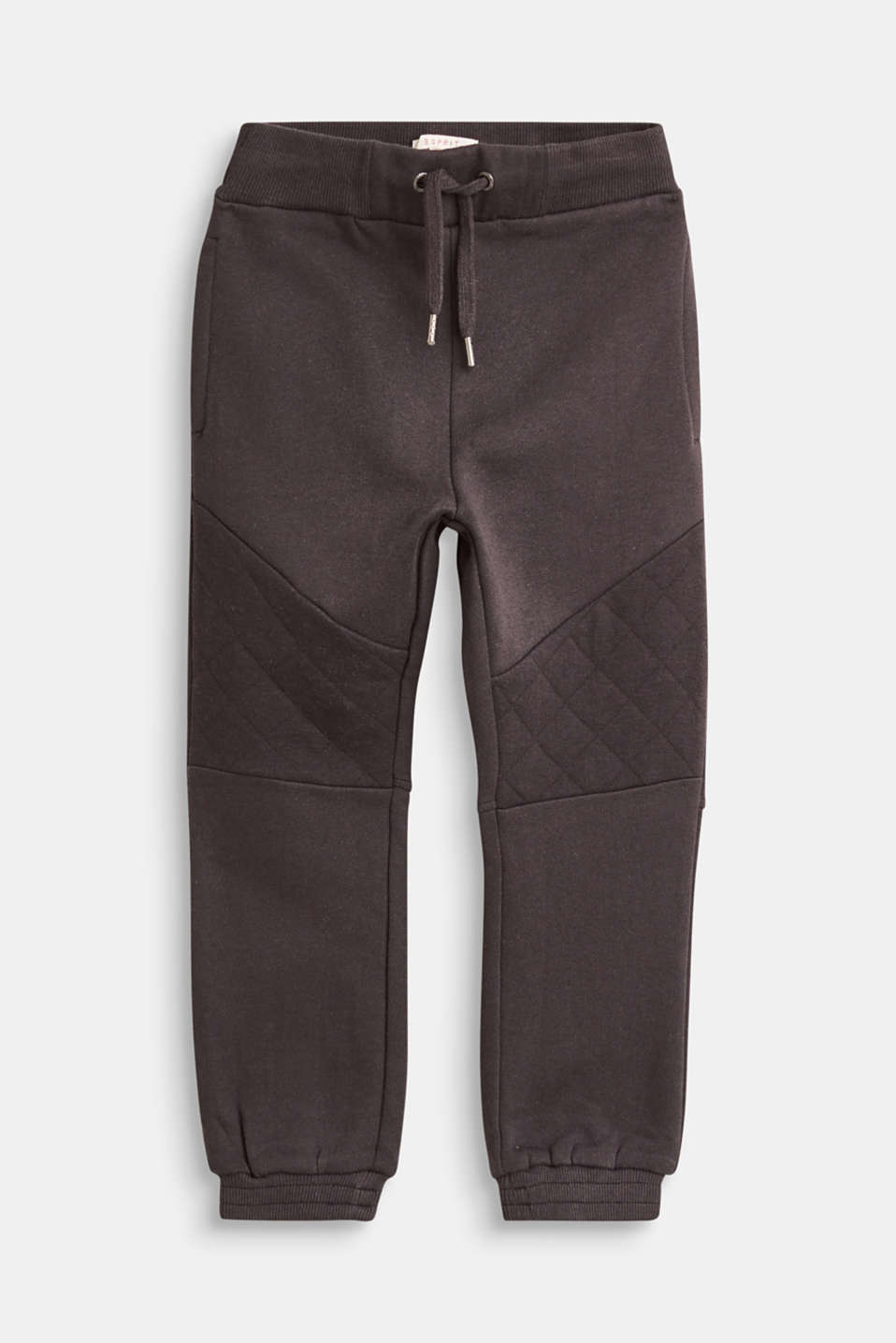 Esprit - Tracksuit bottoms with topstitched seams, 100% cotton