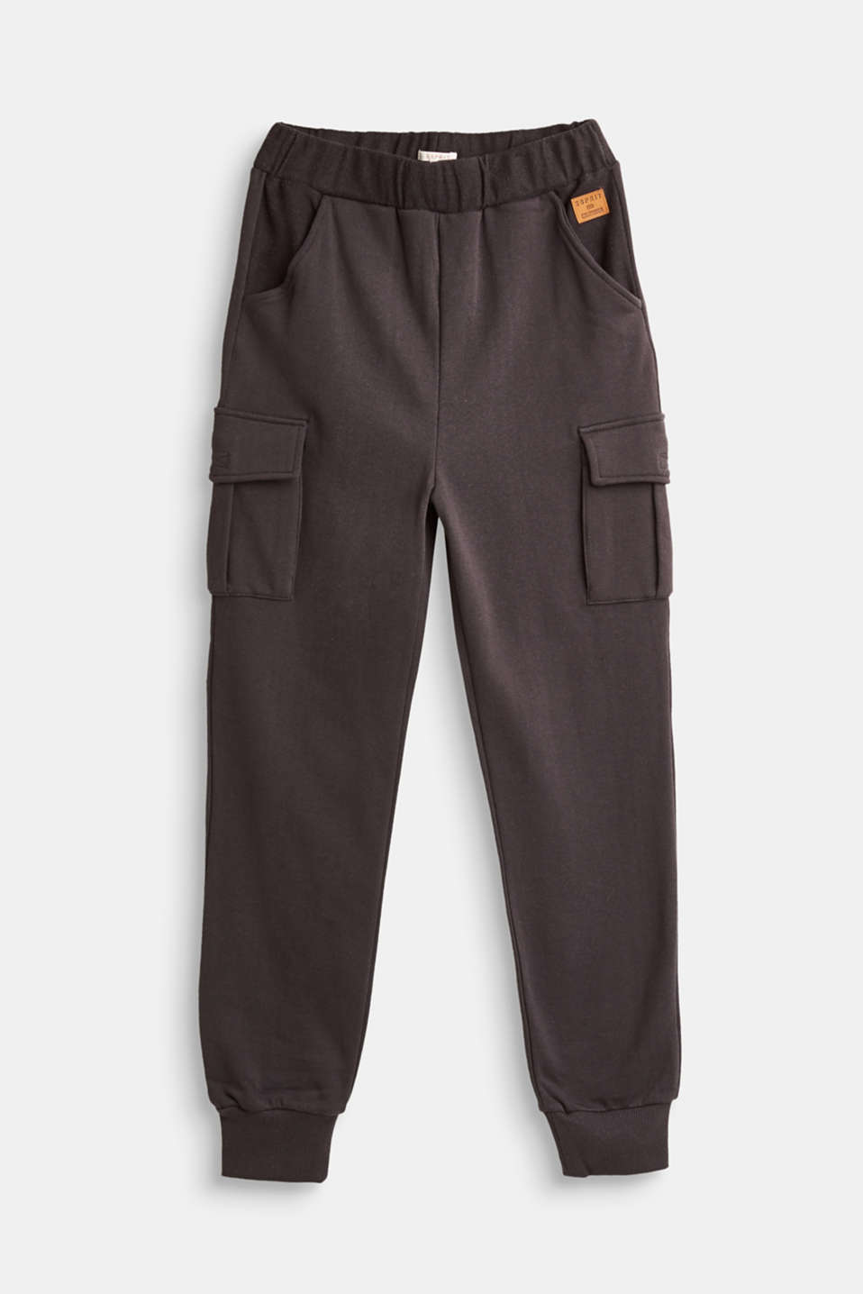 Esprit - Tracksuit bottoms with cargo pockets, 100% cotton
