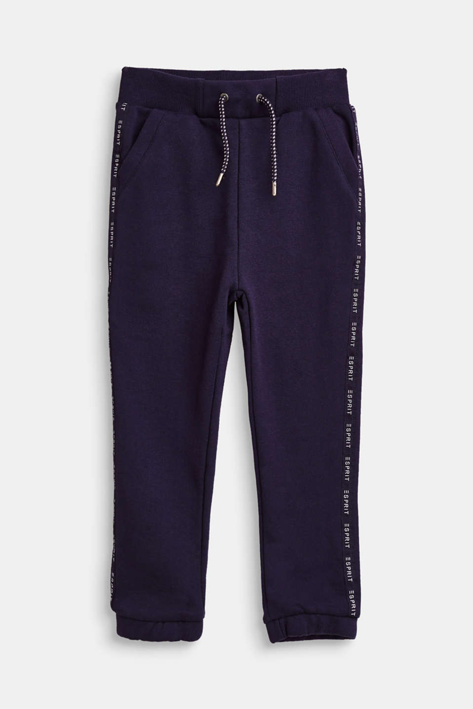 Esprit - Tracksuit bottoms with logo stripes