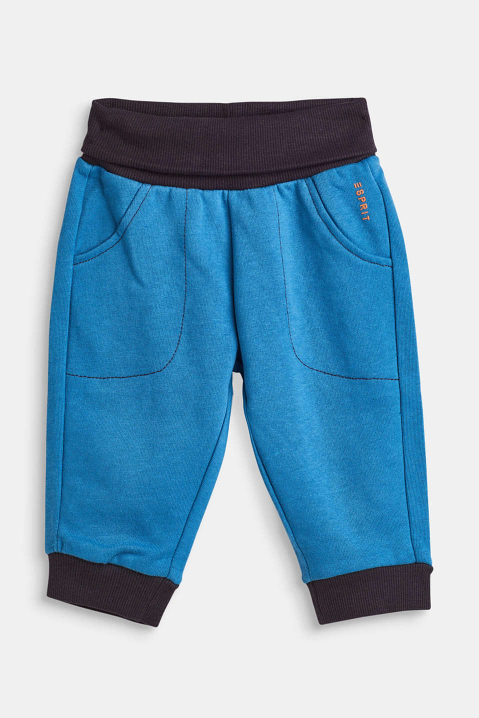 Esprit - Tracksuit bottoms with a turn-down waistband