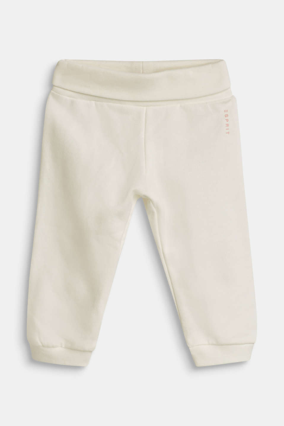 Esprit - Sweatshirt fabric trousers with organic cotton