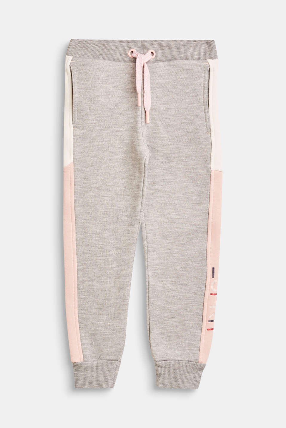 Esprit - Tracksuit bottoms with contrasting stripes
