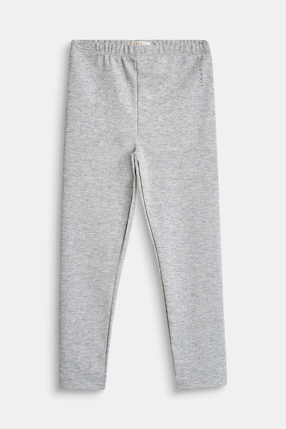 Esprit - Leggings with a silver glitter effect