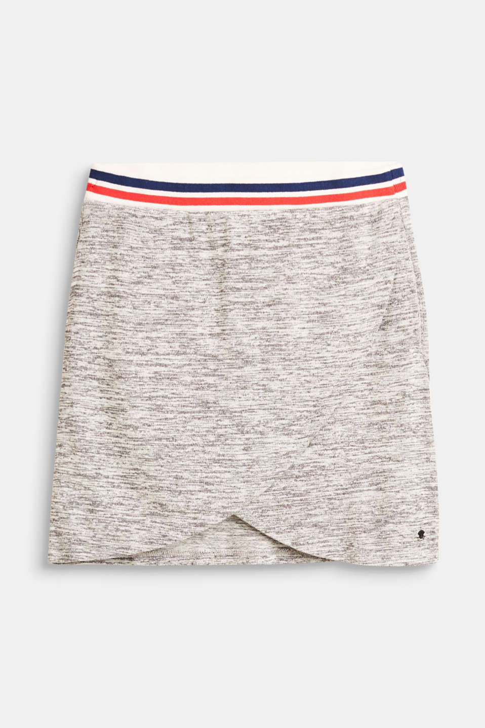 Esprit - Melange knitted skirt with a wide waistband