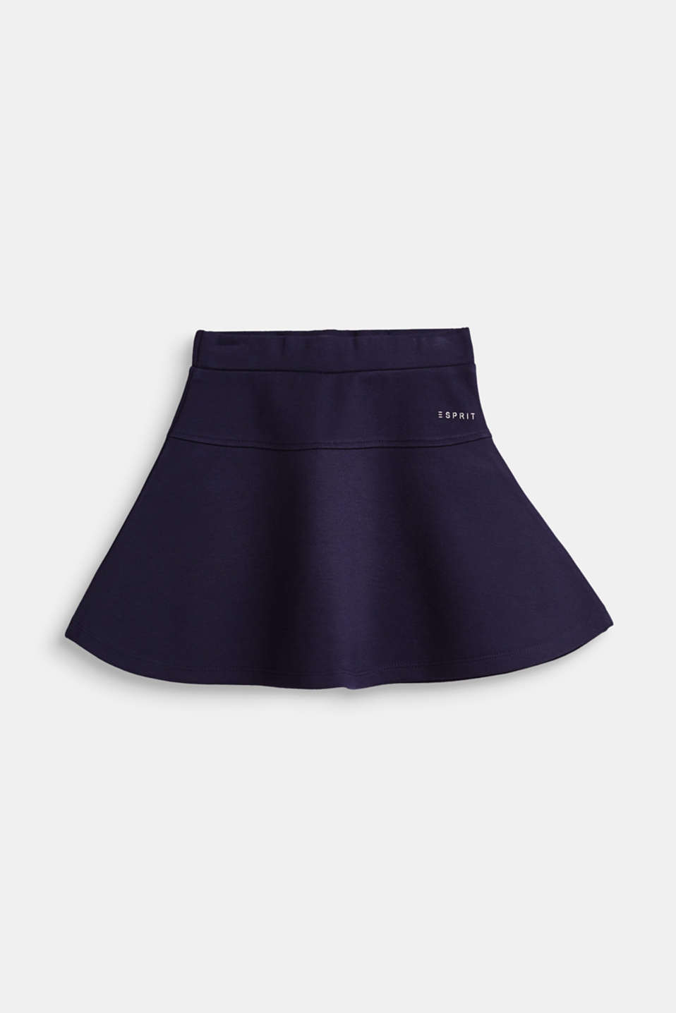 Esprit - A-line skirt made of compact stretch jersey