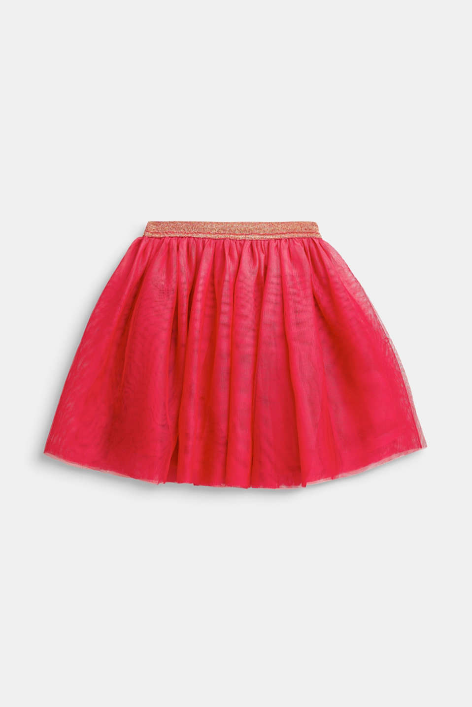 Esprit - Flared tulle skirt with a glitter waistband
