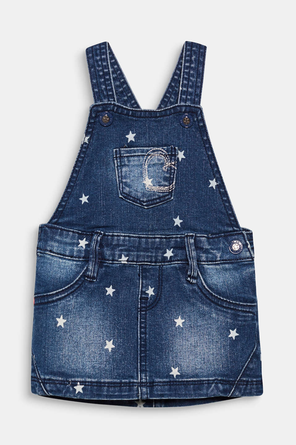 Esprit - Denim pinafore with a star print