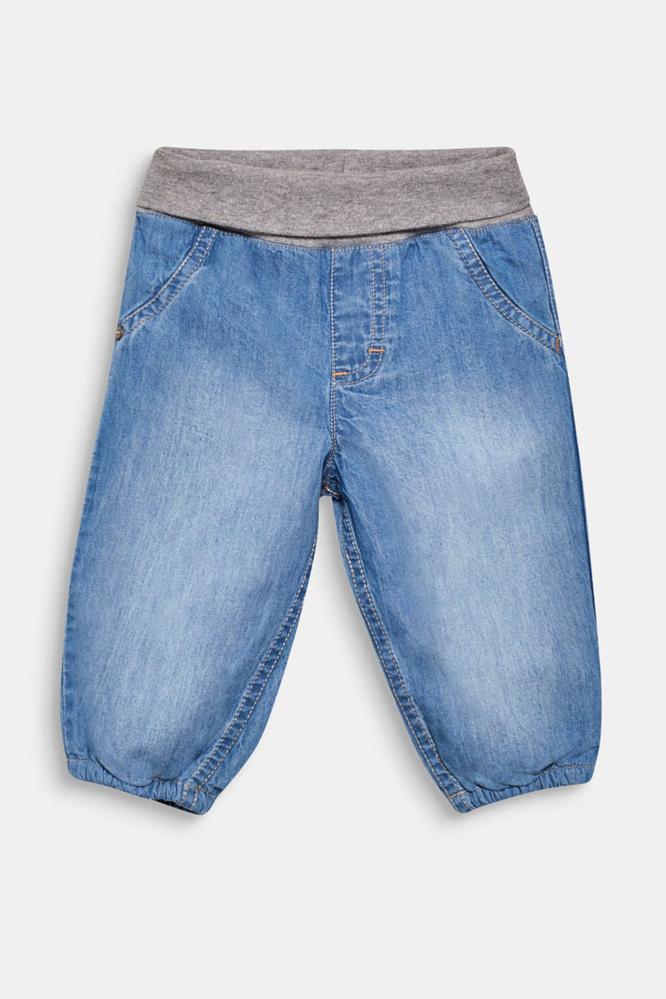 Esprit - Jeans with a jersey turn-down waistband