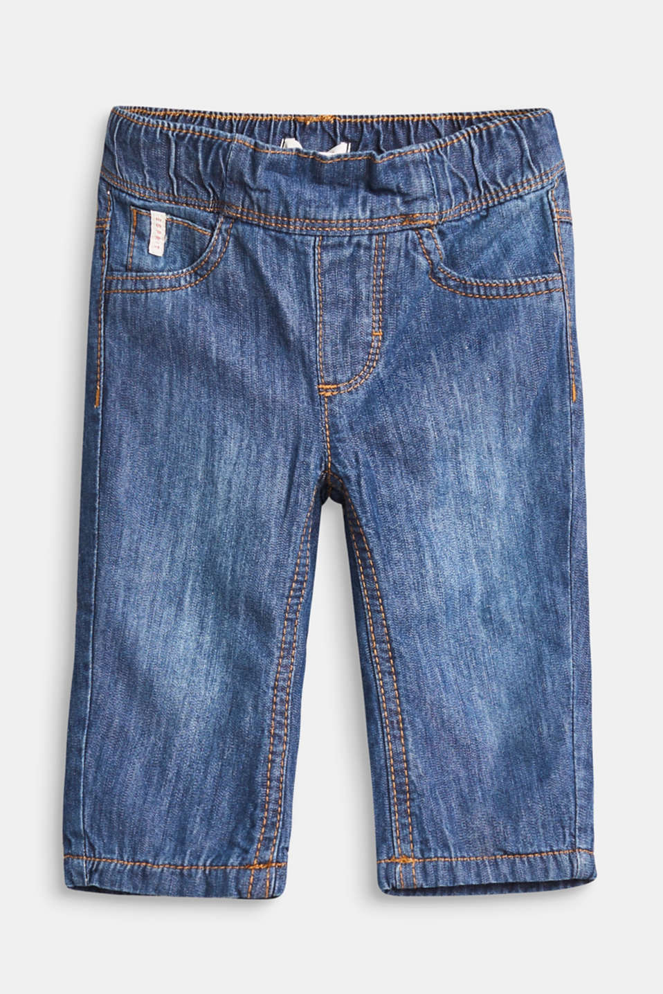Esprit - Soft cotton jeans with jersey lining