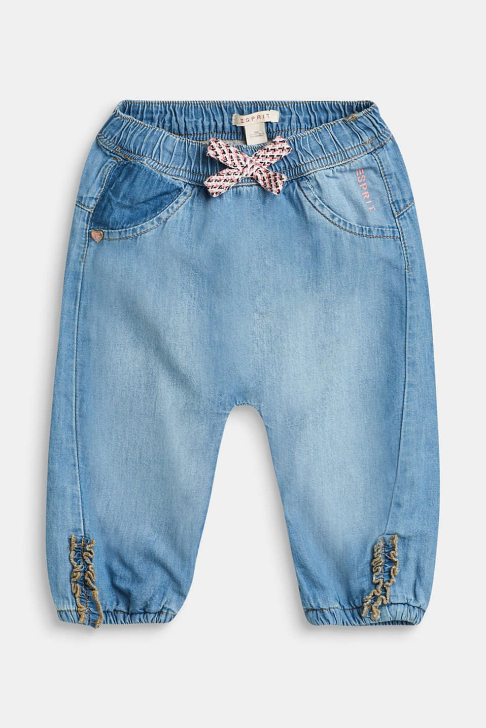 Esprit - Lined jeans with a decorative bow