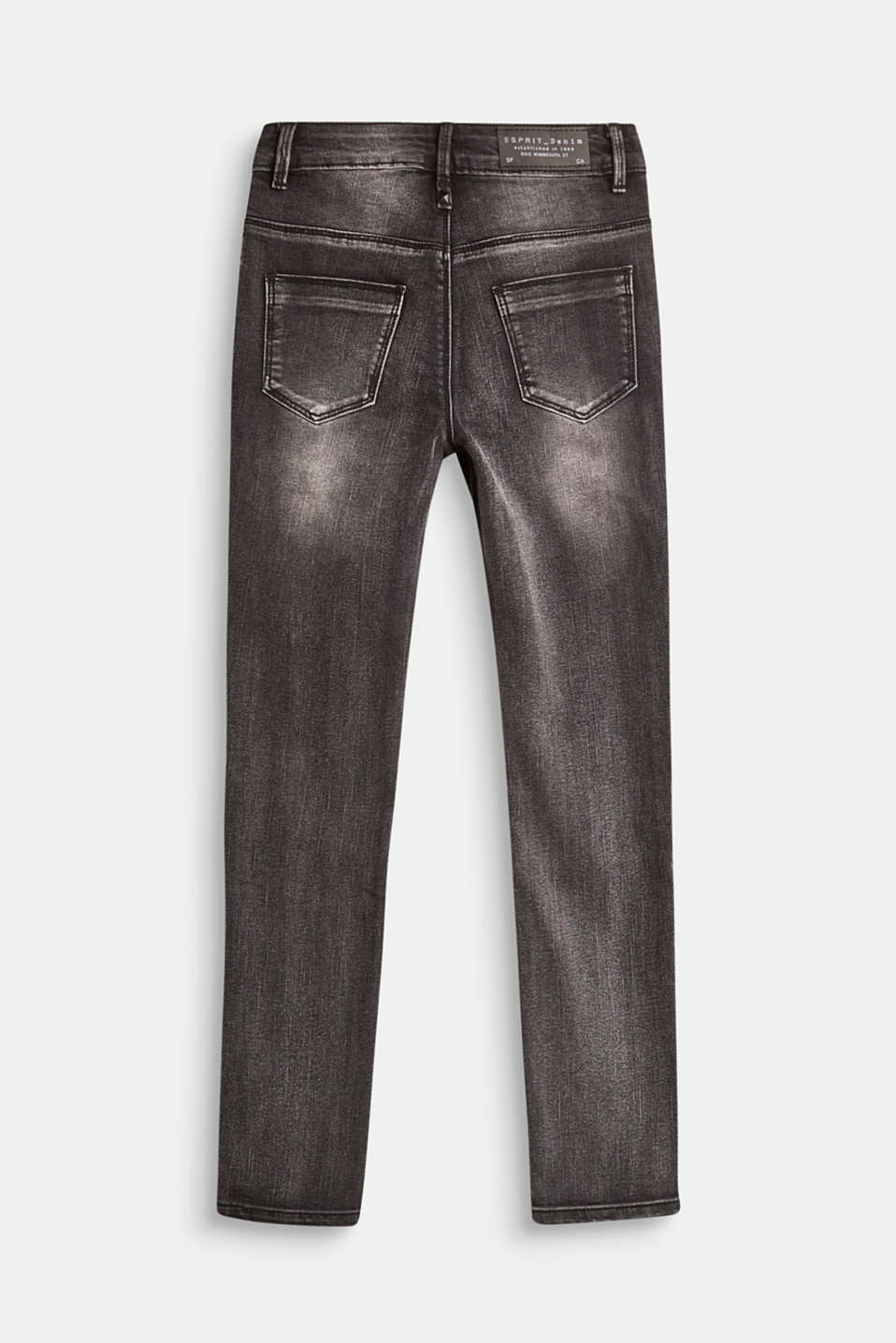 Stretch jeans with a high, adjustable waistband