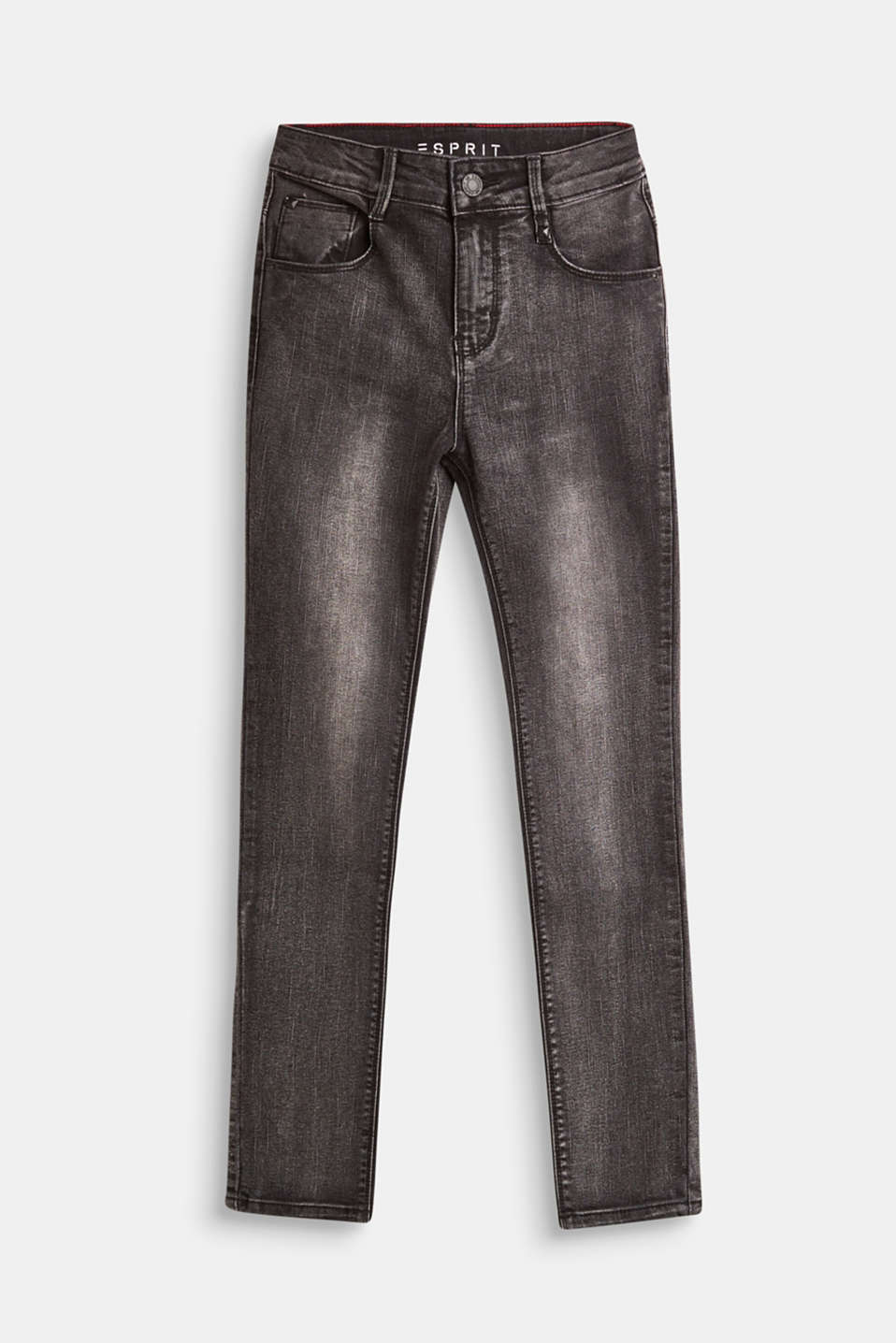Esprit - Stretch jeans with a high, adjustable waistband