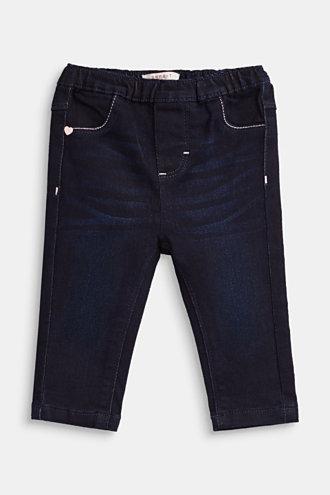 Esprit - Stretchjeans med resårlinning i Esprits Online-Shop 694a2aaa82aaf