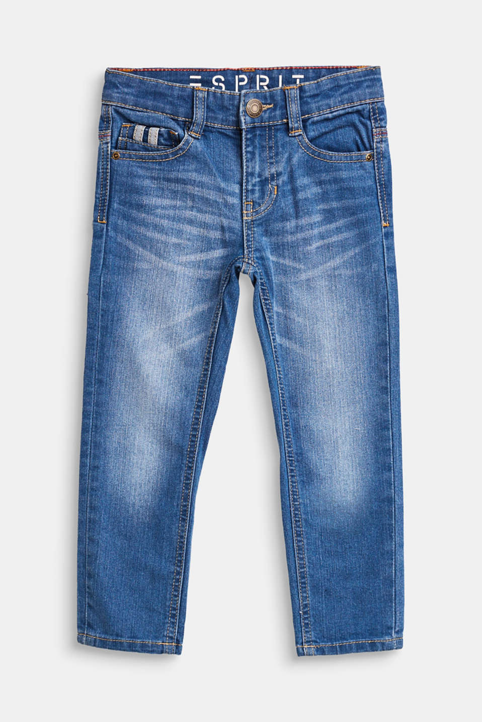 Esprit - Stretch jeans with an elasticated waistband