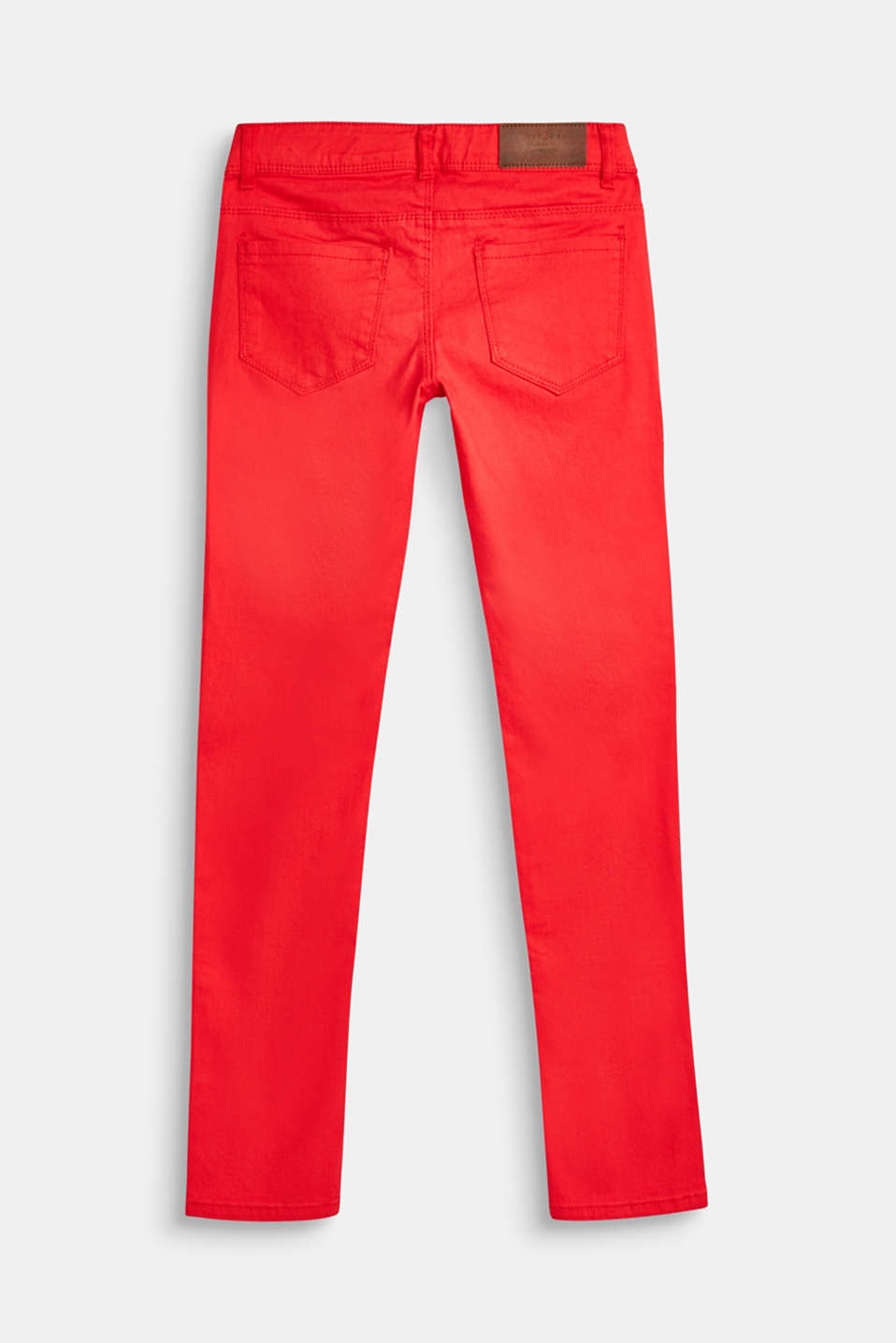 Coloured stretch jeans with a coin pocket