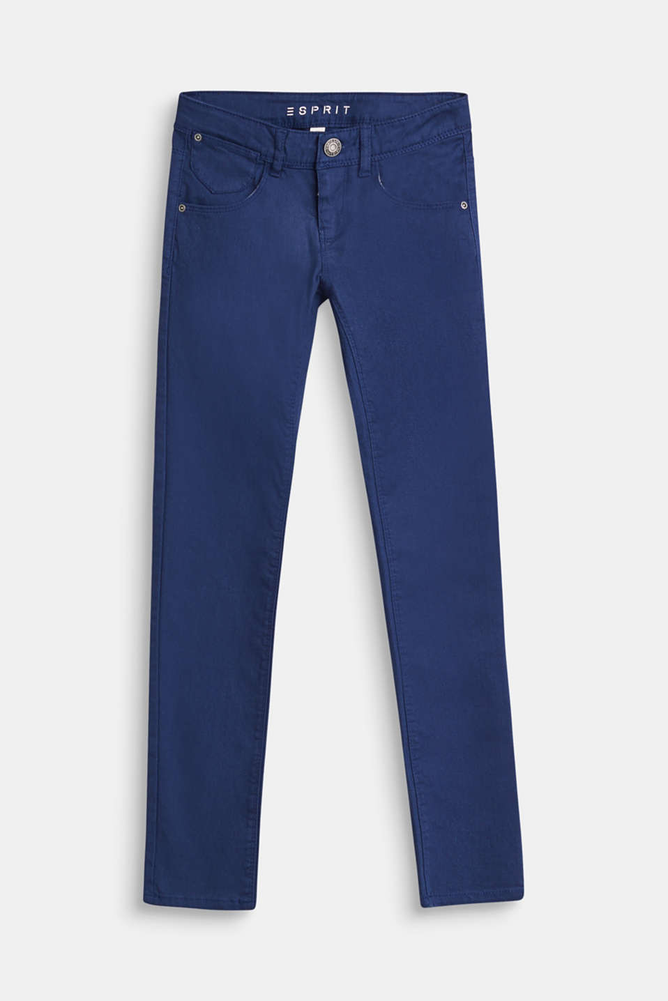 Esprit - Coloured stretch jeans with a coin pocket