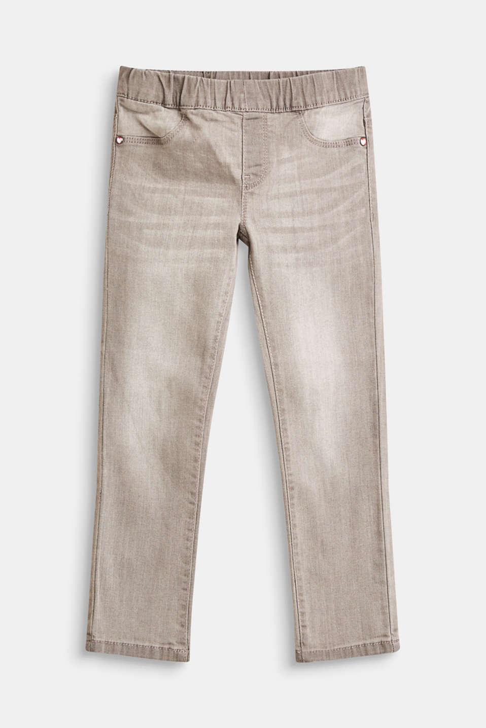 Esprit - Stretch jeggings in a cool shade of grey